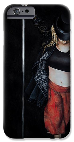 Drama Pastels iPhone Cases - The Storyteller iPhone Case by Dee Ellis