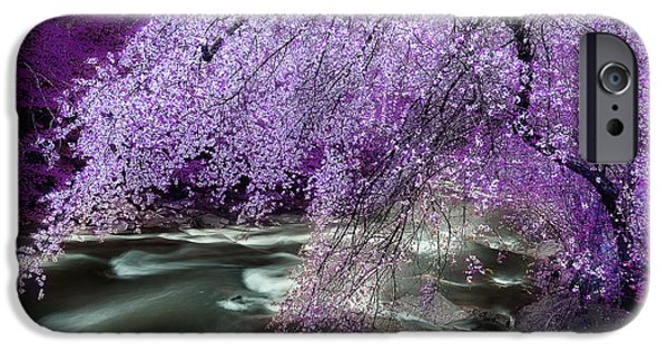Overhang iPhone Cases - The Streams Healing Rhythm iPhone Case by Michael Eingle