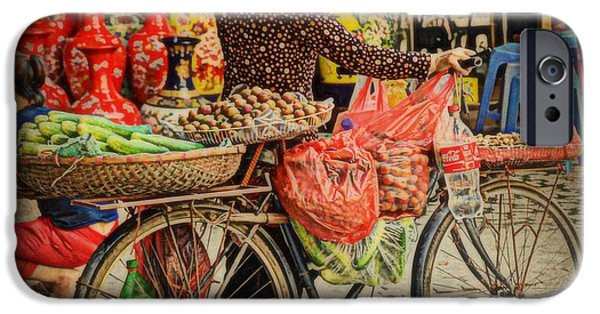 Business Photographs iPhone Cases - The Street Vendor iPhone Case by Toni Abdnour