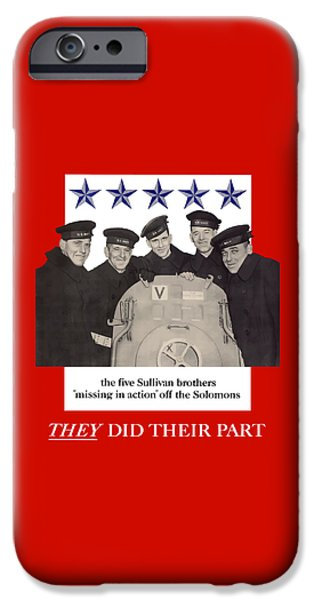The Sullivan Brothers iPhone Case by War Is Hell Store