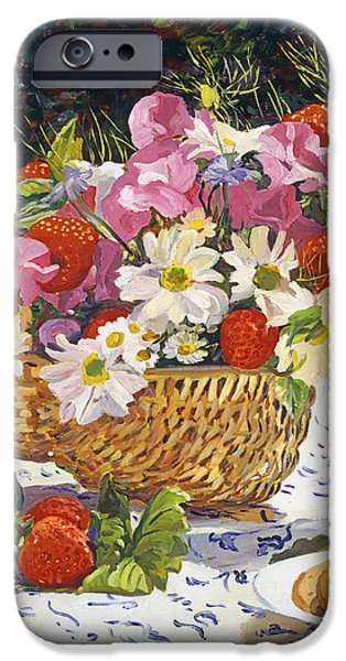 Table Cloth iPhone Cases - The Summer Picnic iPhone Case by David Lloyd Glover