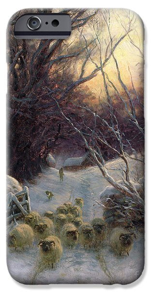Close iPhone Cases - The Sun had closed the Winter Day iPhone Case by Joseph Farquharson