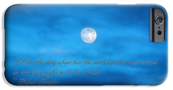 Texture iPhone Cases - The Sun Loved The Moon iPhone Case by Janice Rae Pariza