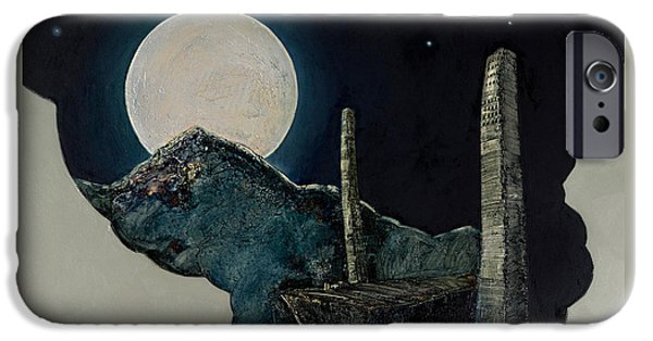 Old Reliefs iPhone Cases - The Super Moon iPhone Case by Mehdi Ashlaghi