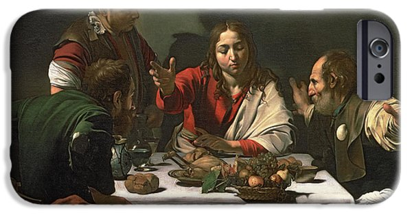 Miracle iPhone Cases - The Supper at Emmaus iPhone Case by Caravaggio