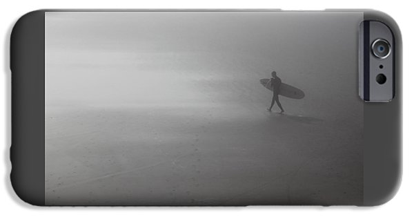 Board iPhone Cases - The Surf Awaits iPhone Case by Ross Lewis