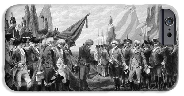 President iPhone Cases - The Surrender Of Cornwallis At Yorktown iPhone Case by War Is Hell Store