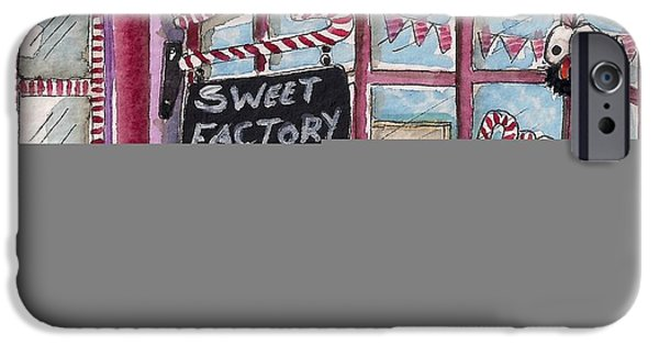 Store Fronts iPhone Cases - The Sweet Factory iPhone Case by Lucia Stewart