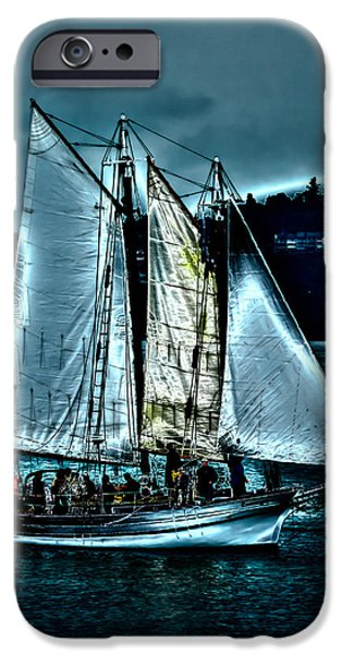 Pirate Ship iPhone Cases - The Tall Ship Lavengro iPhone Case by David Patterson