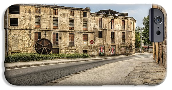 Guild iPhone Cases - The Tanneries Neighborhood in Vic Catalonia iPhone Case by Marc Garrido
