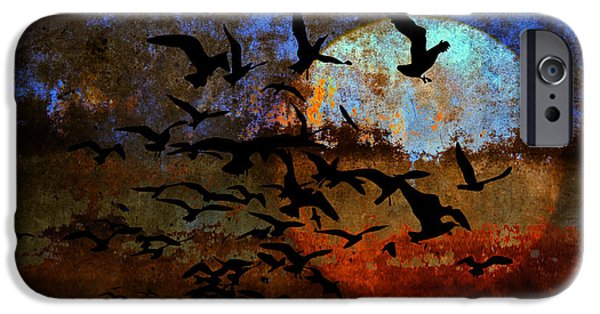 Birds Digital iPhone Cases - The Texture Of Our Dreams iPhone Case by Ron Jones