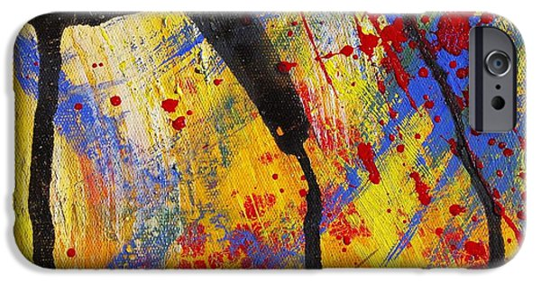Metaphysical Paintings iPhone Cases - The Thin Man - Abstract iPhone Case by Ruth Gonzalez
