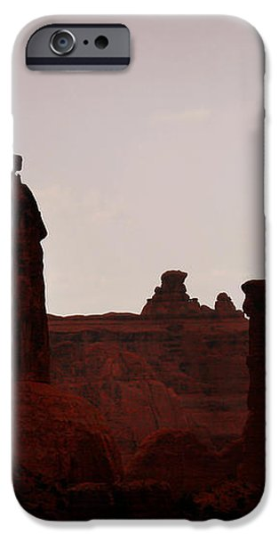 The Three Gossips Arches National Park Utah iPhone Case by Christine Till
