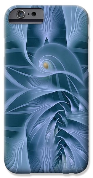 Digital Fine Pastels iPhone Cases - The Tide of Life iPhone Case by Gayle Odsather
