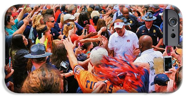 The Tiger iPhone Cases - The Tiger Walk iPhone Case by JC Findley