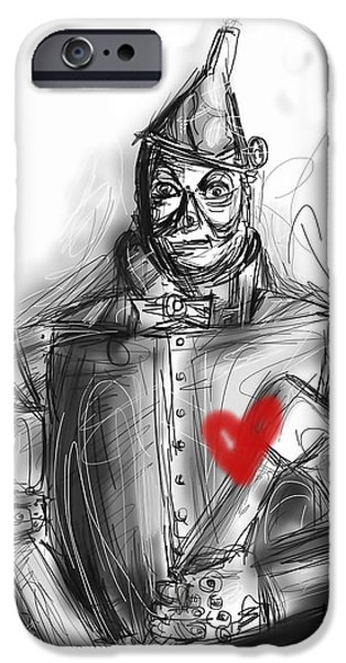 Steam iPhone Cases - The Tin Man iPhone Case by Russell Pierce