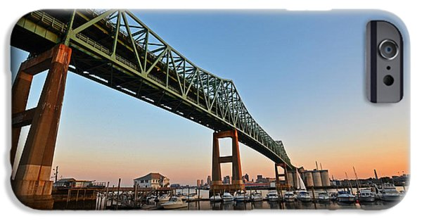 Boston Ma iPhone Cases - The Tobin Bridge Into the Sunset iPhone Case by Toby McGuire