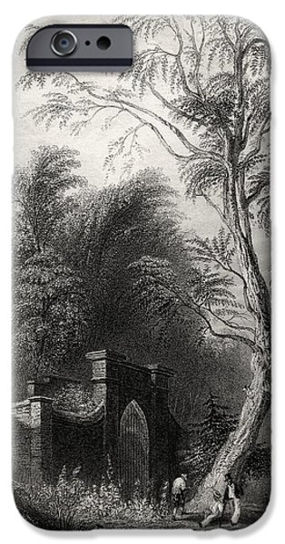 First Black President Drawings iPhone Cases - The Tomb Of Washington Mount Vernon Usa iPhone Case by Ken Welsh