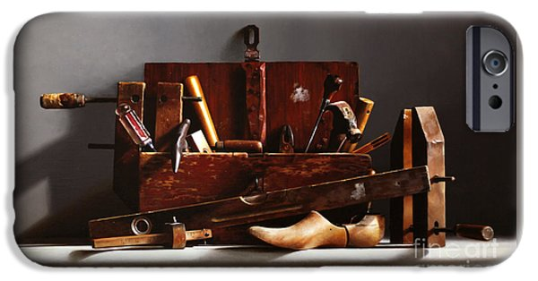 Hammer Paintings iPhone Cases - The Tool Box iPhone Case by Larry Preston