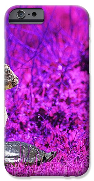 The Tortoise and the Hare . Magenta iPhone Case by Wingsdomain Art and Photography