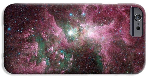 Stellar iPhone Cases - The Tortured Clouds of Eta Carinae iPhone Case by Eric Glaser