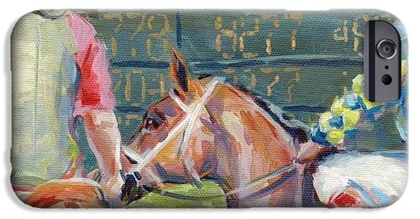 Horse Racing iPhone Cases - The Tote Board iPhone Case by Kimberly Santini