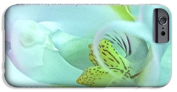 Poetic iPhone Cases - The Touch of Love iPhone Case by Venetia Featherstone-Witty