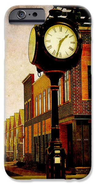 Chicago iPhone Cases - the Town Clock iPhone Case by Milena Ilieva