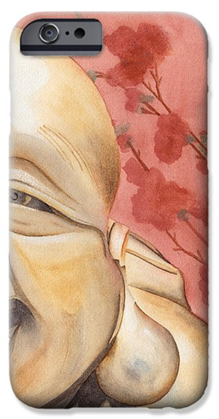 Buddha iPhone Cases - The Travelling Buddha Statue iPhone Case by Ken Powers