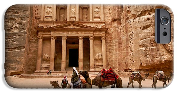 Jordan iPhone Cases - The Treasury of Petra iPhone Case by Michele Burgess