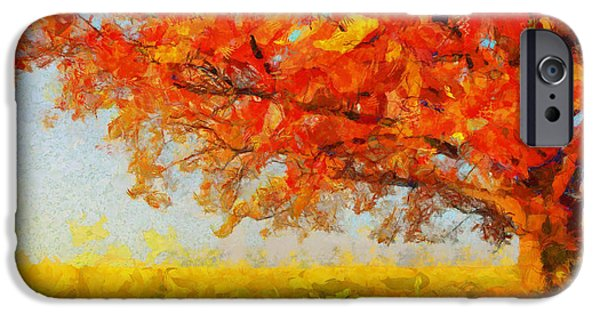 D.c. iPhone Cases - The Tree Of Beautiful Silence - Painting  iPhone Case by Sir Josef  Putsche