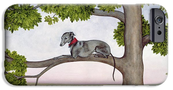 Dogs iPhone Cases - The Tree Whippet iPhone Case by Ditz