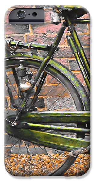 Rust iPhone Cases - The Trusty Old Bike 20150830 iPhone Case by Wingsdomain Art and Photography