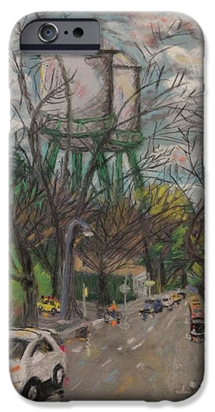 Rainy Day Pastels iPhone Cases - The Two Towers iPhone Case by Stephen Raley