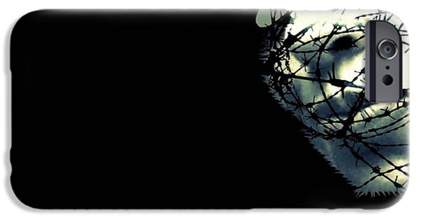 Drama iPhone Cases - The unforgiven iPhone Case by Frances Lewis