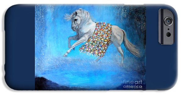 The Horse iPhone Cases - The Unicorn iPhone Case by Dagmar Helbig