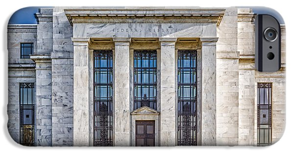 D.c. iPhone Cases - The United States Federal Reserve iPhone Case by Susan Candelario
