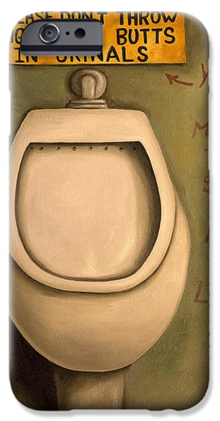 Gas Paintings iPhone Cases - The Urinal iPhone Case by Leah Saulnier The Painting Maniac