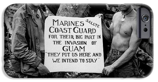Sign iPhone Cases - The U.s. Marines Salute The U.s. Coast iPhone Case by Stocktrek Images