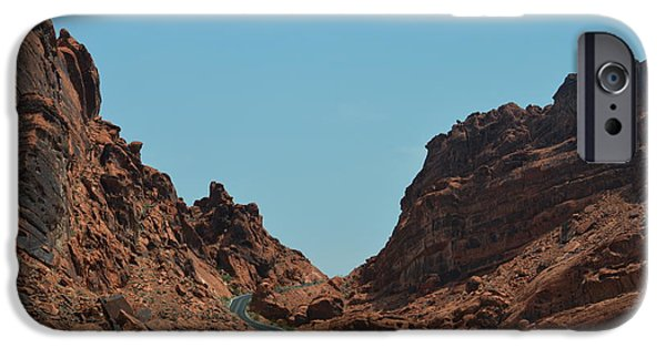 Red Rock Tapestries - Textiles iPhone Cases - The V Road iPhone Case by Edna Weber
