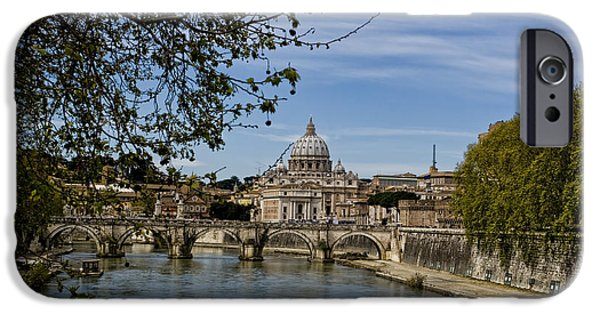 Vatican iPhone Cases - The Vatican by Day iPhone Case by Michelle Sheppard