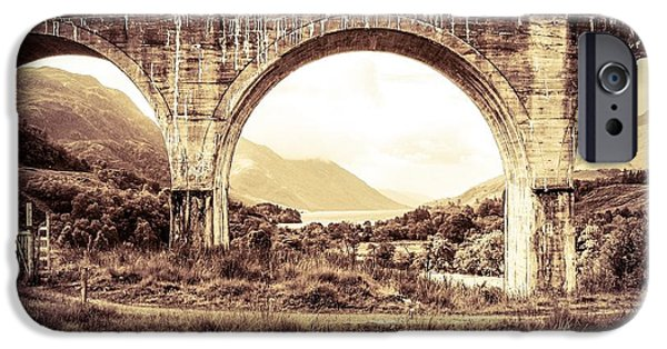 Prince Harry iPhone Cases - The Viaduct and the Loch iPhone Case by Denise Railey