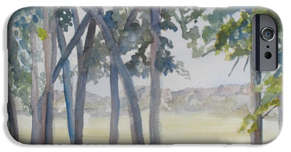 Nebraska Paintings iPhone Cases - The View From Fort Robinson iPhone Case by Jenny Armitage