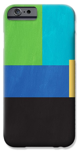 Corporate Art iPhone Cases - The View From Here- Modern Abstract iPhone Case by Linda Woods
