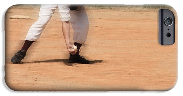 Baseball Uniform iPhone Cases - Baseball in the 1860s  iPhone Case by Steven  Digman