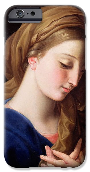 Young Paintings iPhone Cases - The Virgin Annunciate iPhone Case by  Pompeo Girolamo Batoni
