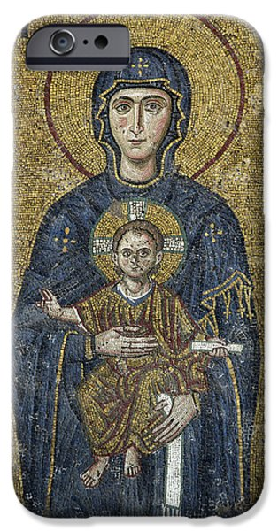 The Virgin Mary holds the Child Christ on her lap iPhone Case by Ayhan Altun