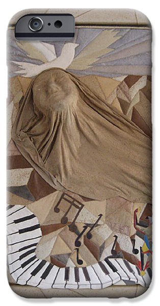 Piano Tapestries - Textiles iPhone Cases - The visionary  iPhone Case by Nadine May