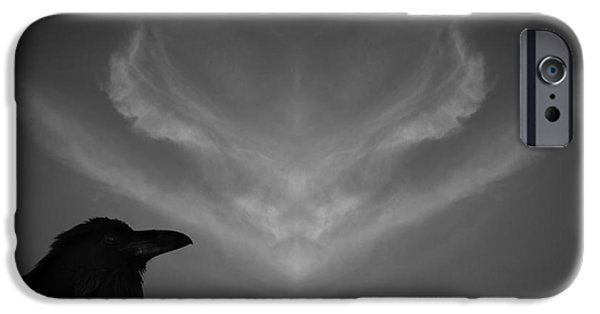 Crow Medicine iPhone Cases - The Visitation iPhone Case by Dave Gordon