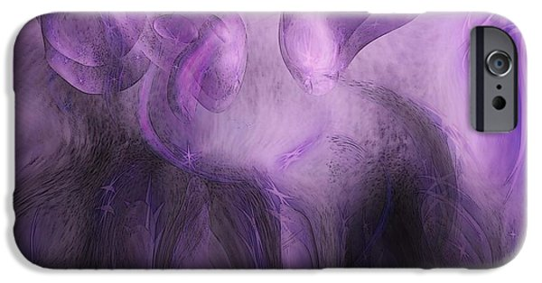 Energy Art Movement iPhone Cases - The Visitors iPhone Case by Linda Sannuti